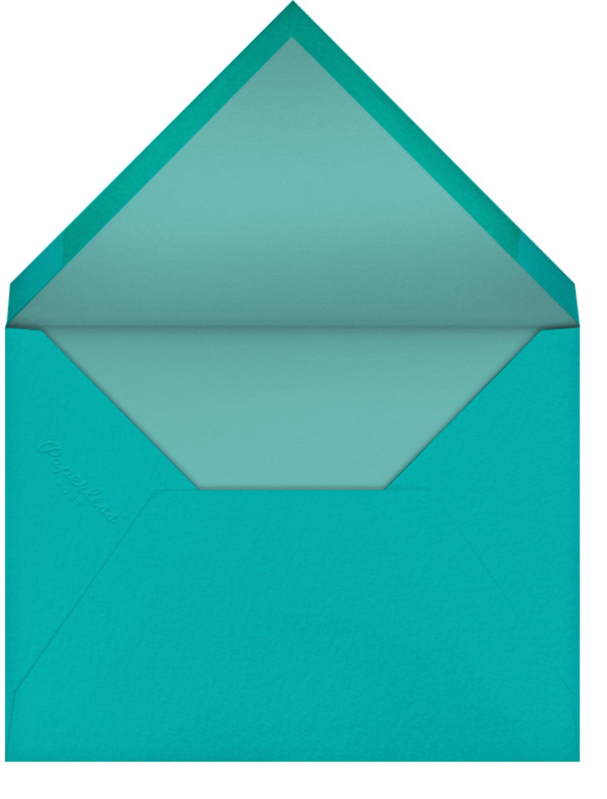 Bird Balloon (Invitation) - Blue - Petit Collage - Baby shower - envelope back