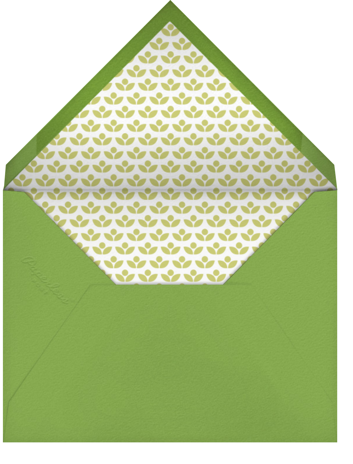 Forest Parade - White - Petit Collage - Woodland baby shower - envelope back