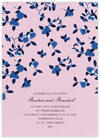 Scattered Pansy - Oscar de la Renta - Anniversary party invitations