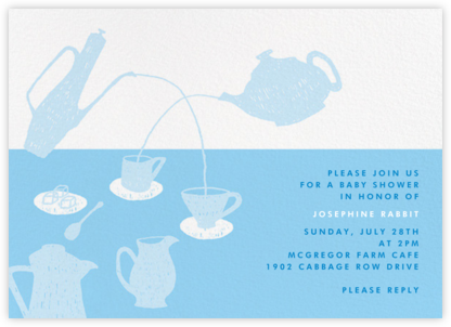 Pour Me a Cup - Blue - Paperless Post - Baby Shower Invitations