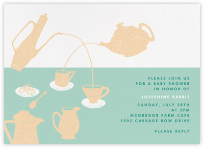 Pour Me a Cup - Green - Paperless Post - Baby Shower Invitations