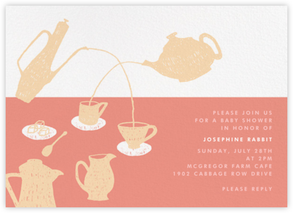 Pour Me a Cup - Pink - Paperless Post - Celebration invitations