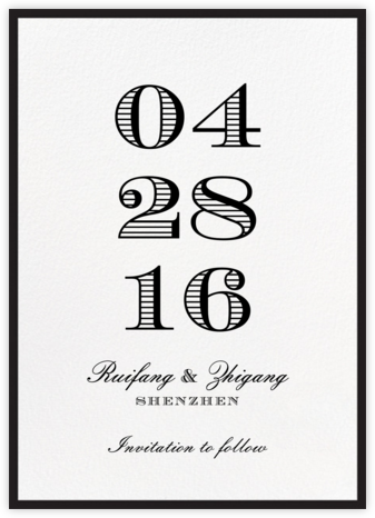 Contorno - Black - Paperless Post - Save the dates
