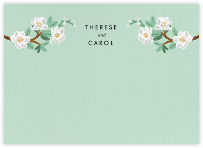 Tea Tree (Stationery) - Mint - Rifle Paper Co. - Personalized stationery