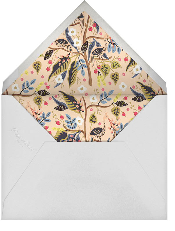 Egret Garden (Stationery) - Rifle Paper Co. - Personalized stationery - envelope back