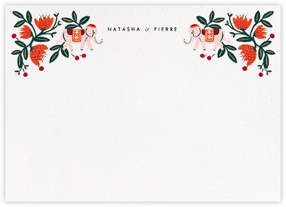 Royal Elephant (Stationery) - Rifle Paper Co. - Personalized Stationery