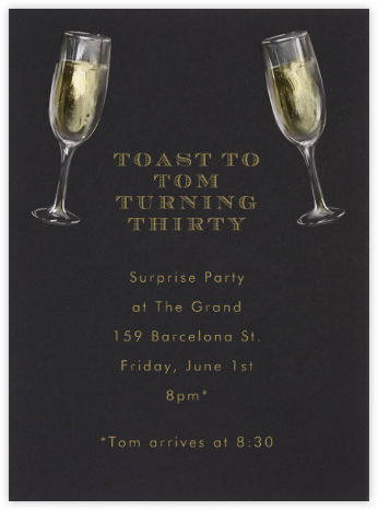 Champagne Glasses - Paperless Post - Birthday invitations