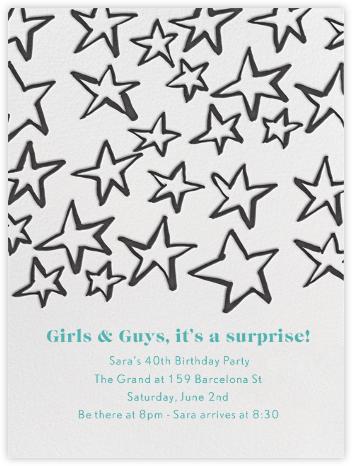 Celebration Stars - Linda and Harriett - Adult birthday invitations