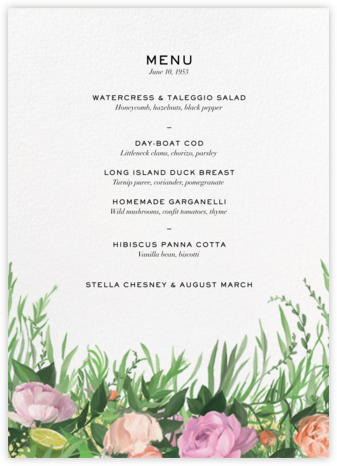 Gramercy Garden (Menu) - Paperless Post - Wedding menus and programs - available in paper