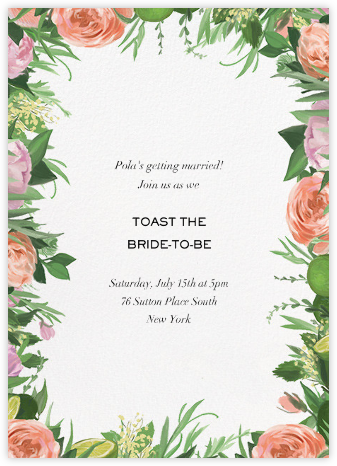 Gramercy Garden - Paperless Post - Bridal shower invitations