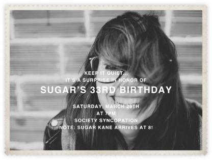 Sawtooth (Horizontal) - Paperless Post - Adult Birthday Invitations