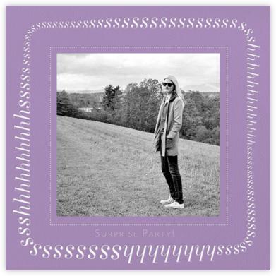 Keep It Quiet - Lilac - Paperless Post - Adult Birthday Invitations