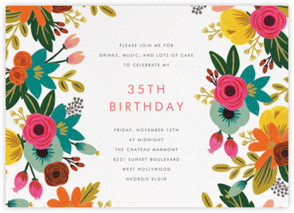Floral Tropics - Ivory - Rifle Paper Co. - Adult birthday invitations