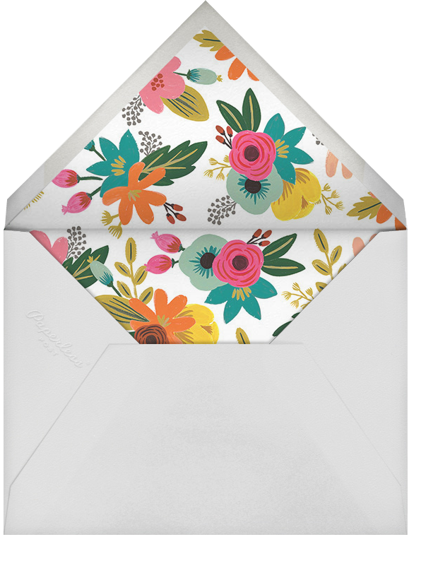 Floral Tropics - Celadon - Rifle Paper Co. - Adult birthday - envelope back