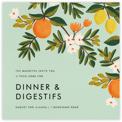 Citrus Orchard - Mint  - Rifle Paper Co. -