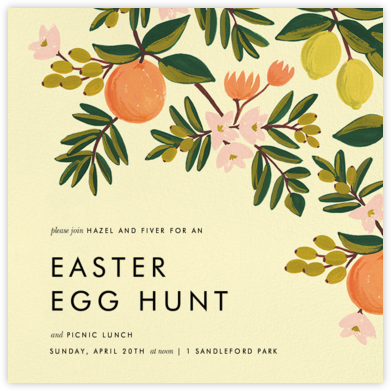 Citrus Orchard - Yellow - Rifle Paper Co. - Easter invitations