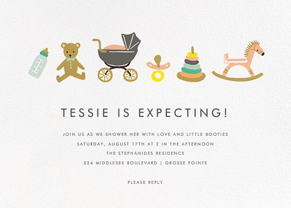 The Baby Basics - Rifle Paper Co. - Baby shower invitations