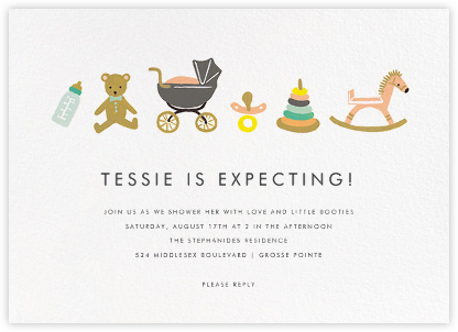 The Baby Basics - Rifle Paper Co. - Online Baby Shower Invitations