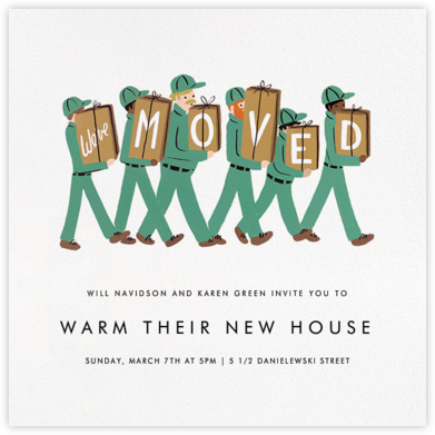 Moving Company - Rifle Paper Co. - Housewarming party invitations