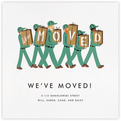 Moving Company - Rifle Paper Co. - Moving announcements