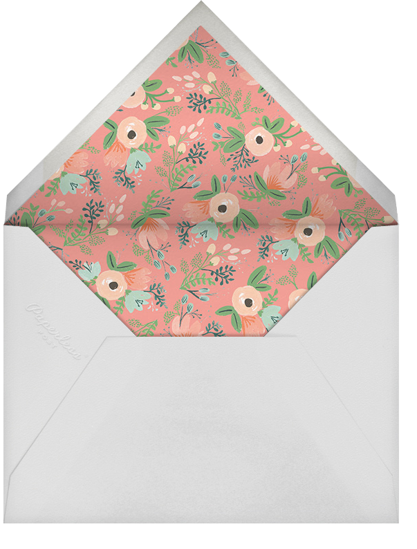 Botanic Numerals (Fifty) - Gray - Rifle Paper Co. - 50th birthday invitations - envelope back