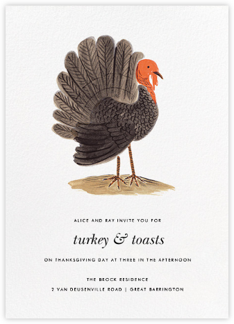 Turkey Time - Rifle Paper Co. - Thanksgiving invitations