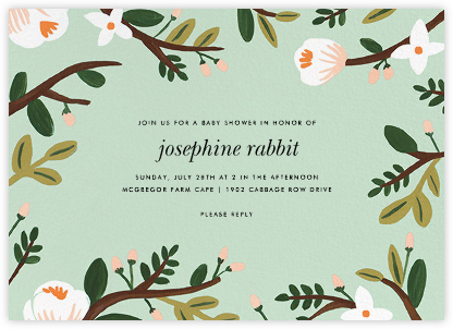 Floral Glade - Rifle Paper Co. - Baby Shower Invitations