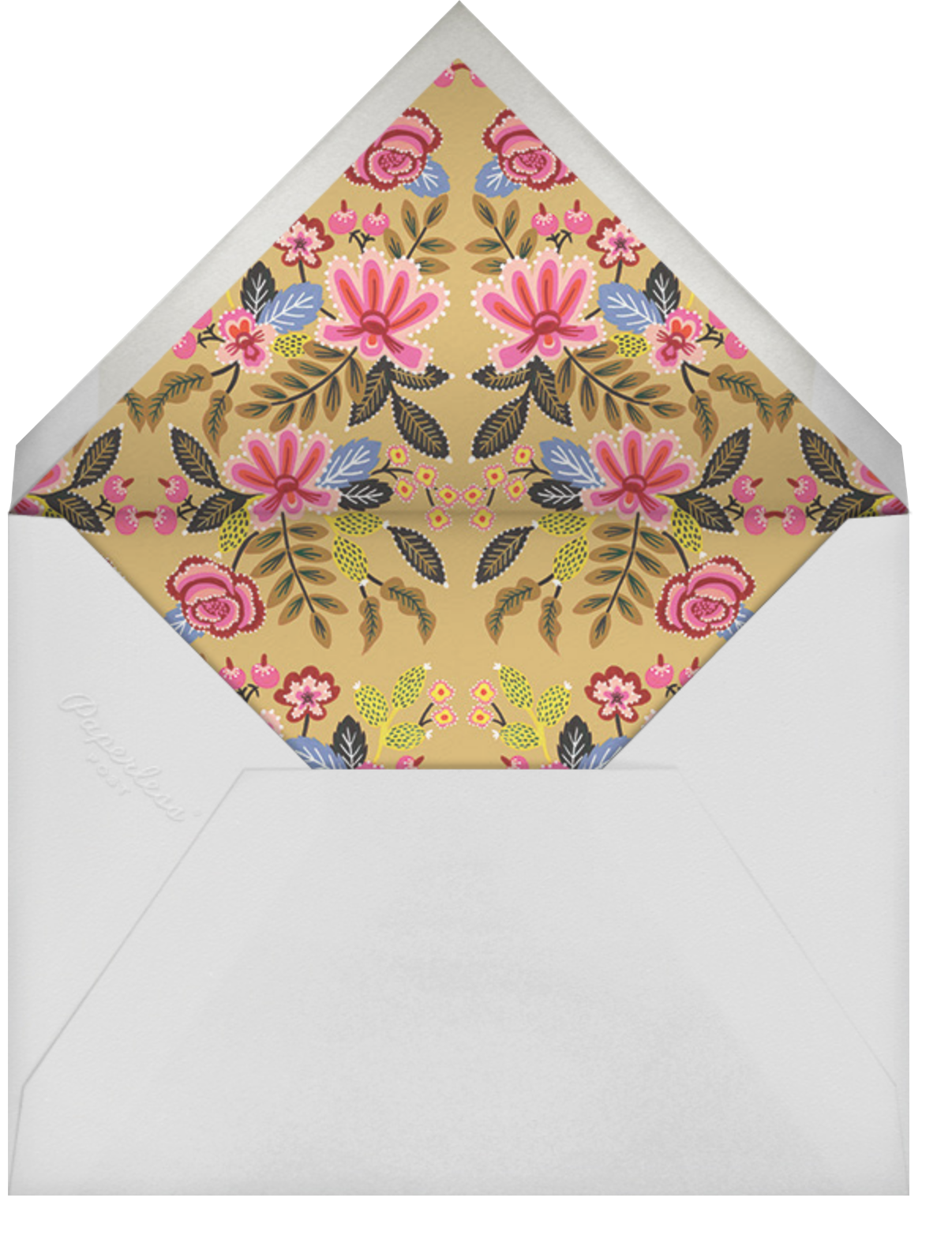 Folk Embroidery - Rifle Paper Co. - Lunar New Year - envelope back