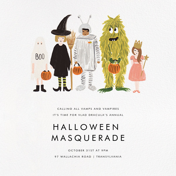 Little Treats - Rifle Paper Co. - Halloween invitations