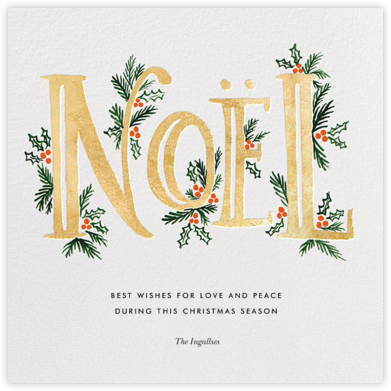 The Fir Noel - Gold - Rifle Paper Co. - Christmas Cards