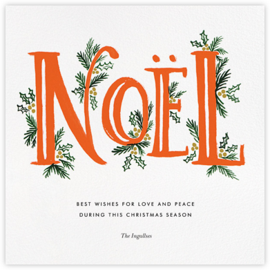 The Fir Noel - Red - Rifle Paper Co. -