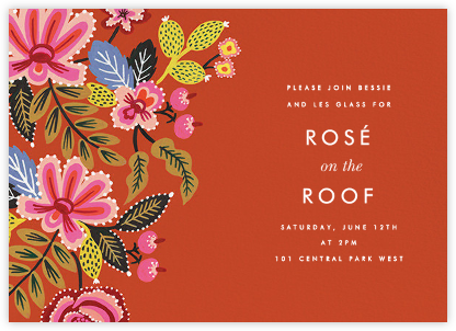 Folk Embroidery Hem - Rifle Paper Co. - Rifle Paper Co. Invitations