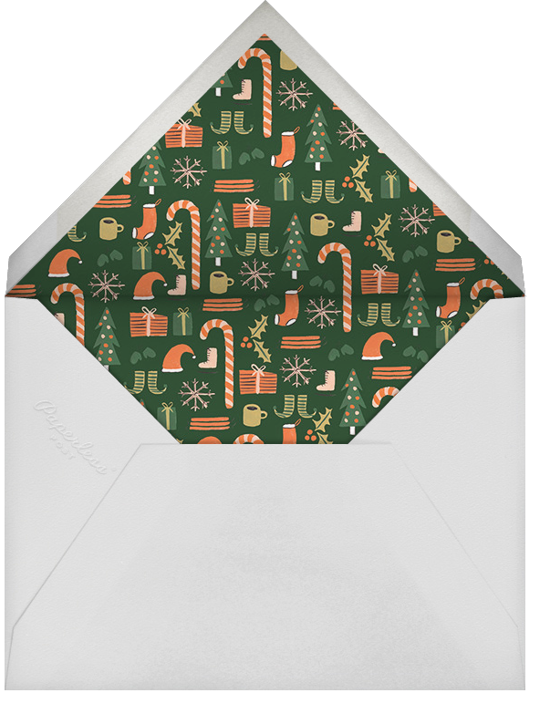 Tiny Tannenbaum - Red  - Rifle Paper Co. - Christmas - envelope back