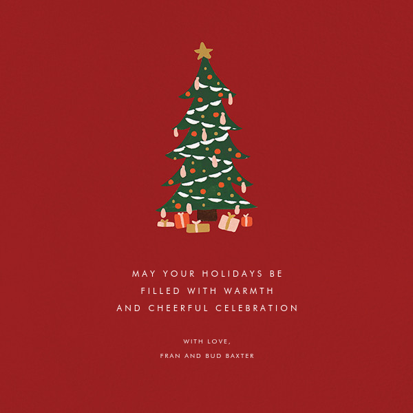Tiny Tannenbaum - Red  - Rifle Paper Co. - Christmas
