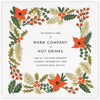 Holiday Potpourri (Square) - Rifle Paper Co. - Winter entertaining invitations