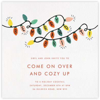 Glow Strings Attached - Ivory - Rifle Paper Co. - Holiday party invitations