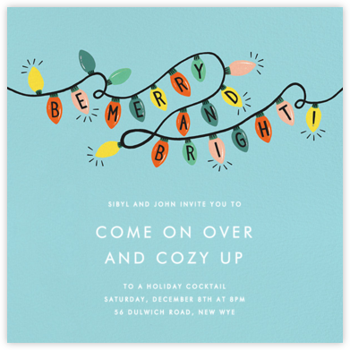 Glow Strings Attached - Blue - Rifle Paper Co. - Holiday invitations