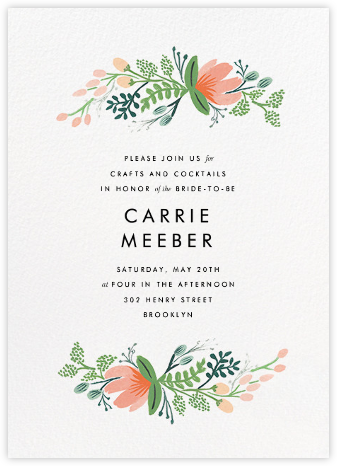 Primrose Garland  - Rifle Paper Co. - Bridal shower invitations