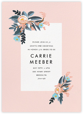 Pinks and Blues - Rifle Paper Co. - Bridal shower invitations