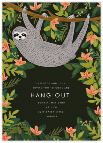 Let's Hang - Hunter Green - Rifle Paper Co. - Rifle Paper Co. Invitations