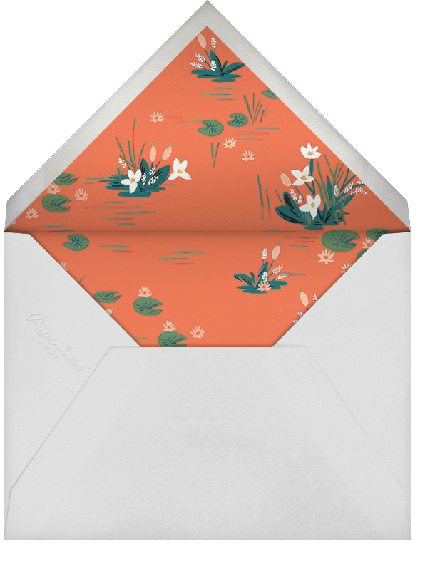 Swan Pond - Black - Rifle Paper Co. - Envelope