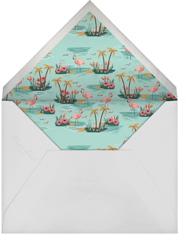 Flamingo Lagoon (Horizontal) - Yellow - Rifle Paper Co. - Save the date - envelope back