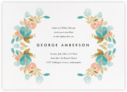 Classic Garland - Rifle Paper Co. - Christening Invitations