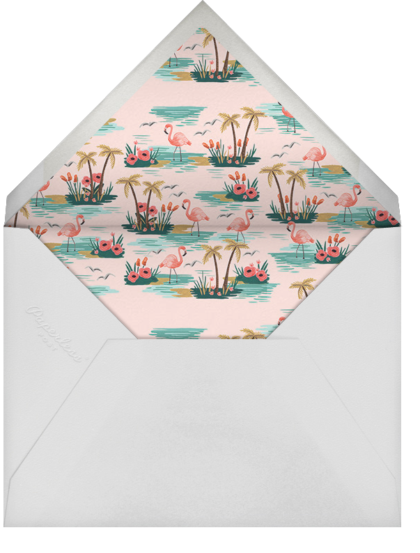 Flamingo Lagoon (Horizontal) - Pink - Rifle Paper Co. - Save the date - envelope back