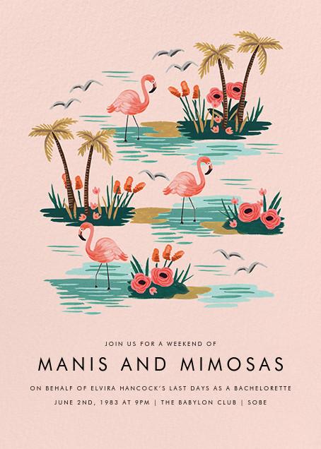 Flamingo Lagoon (Tall) - Rifle Paper Co. - Summer entertaining invitations
