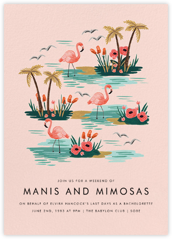 Flamingo Lagoon (Tall) - Rifle Paper Co. - Summer entertaining invitations
