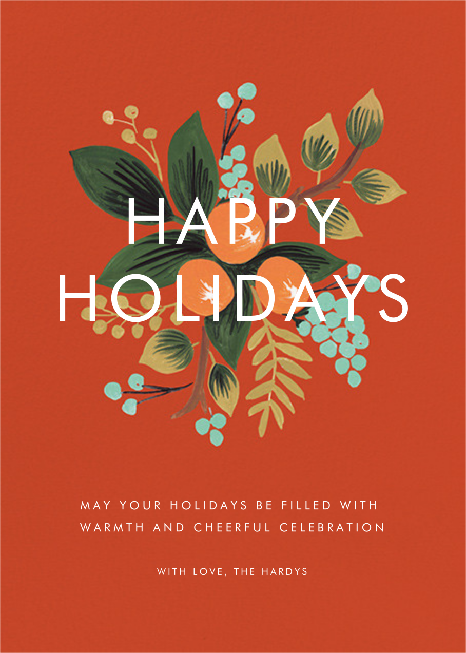 Orange Cluster (Holiday Greeting) - Rifle Paper Co. - Holiday cards