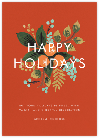 Orange Cluster (Holiday Greeting) - Rifle Paper Co. - Online greeting cards