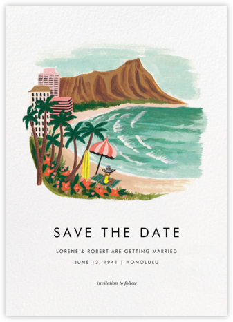 Destination: Beach  - Rifle Paper Co. - Save the date cards and templates