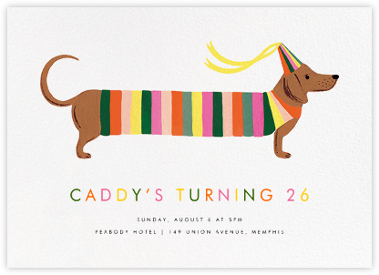 Party Pup - Rifle Paper Co. - Adult birthday invitations
